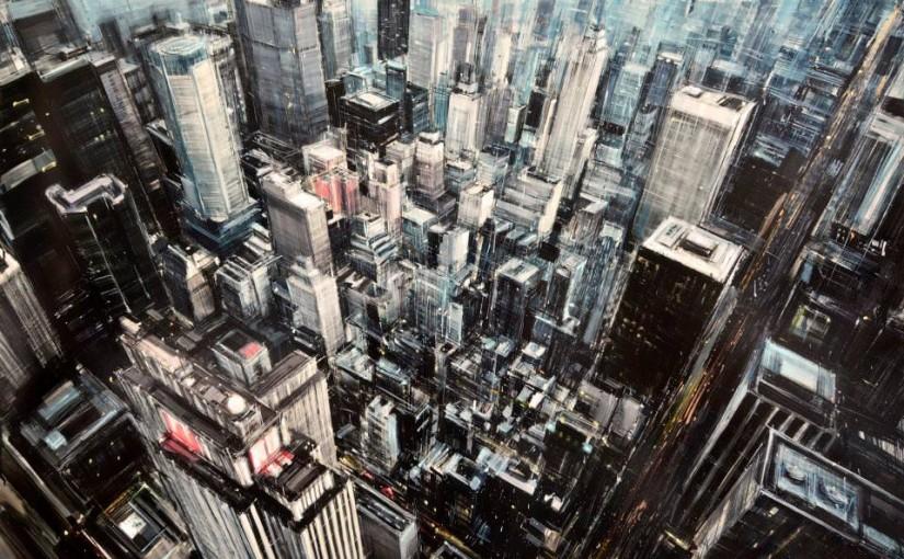Verschleierte Stadtbilder, gemalt von Emilio Valerio D'Ospina