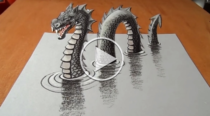 3D Loch Ness Monster
