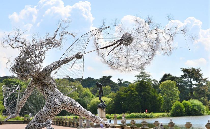 Skulpturen aus Draht von Robin Wight