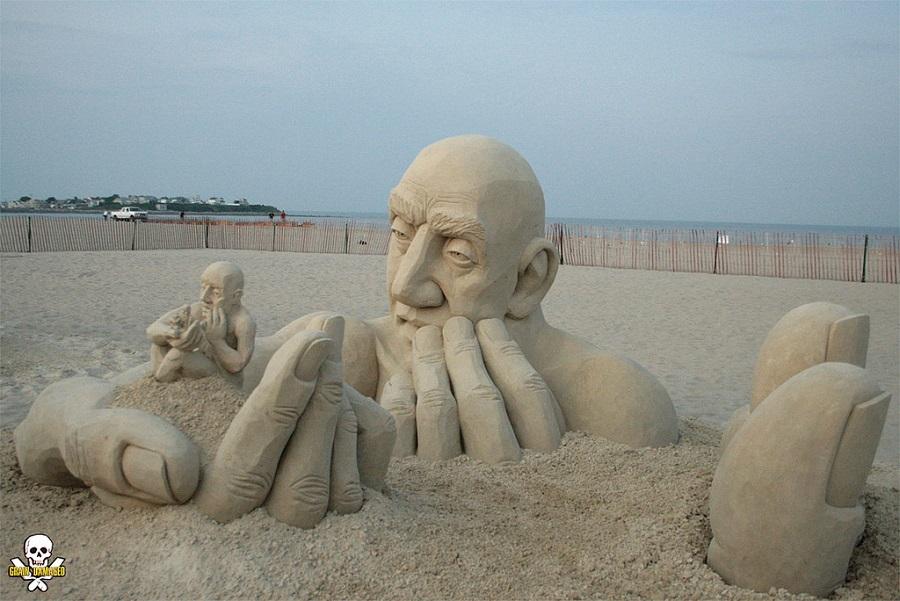 Professionelle Sandskulpturen von Carl Jara