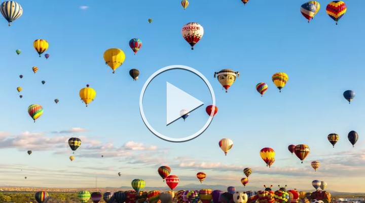Albuquerque Balloon Fiesta – Massenstarts der Heißluftballons