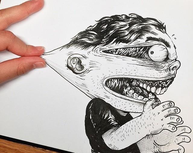 Lustige Zeichnungen von Alex Solis