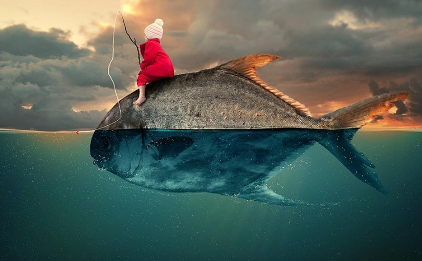 Surreale Fotomanipulation von Caras Ionut