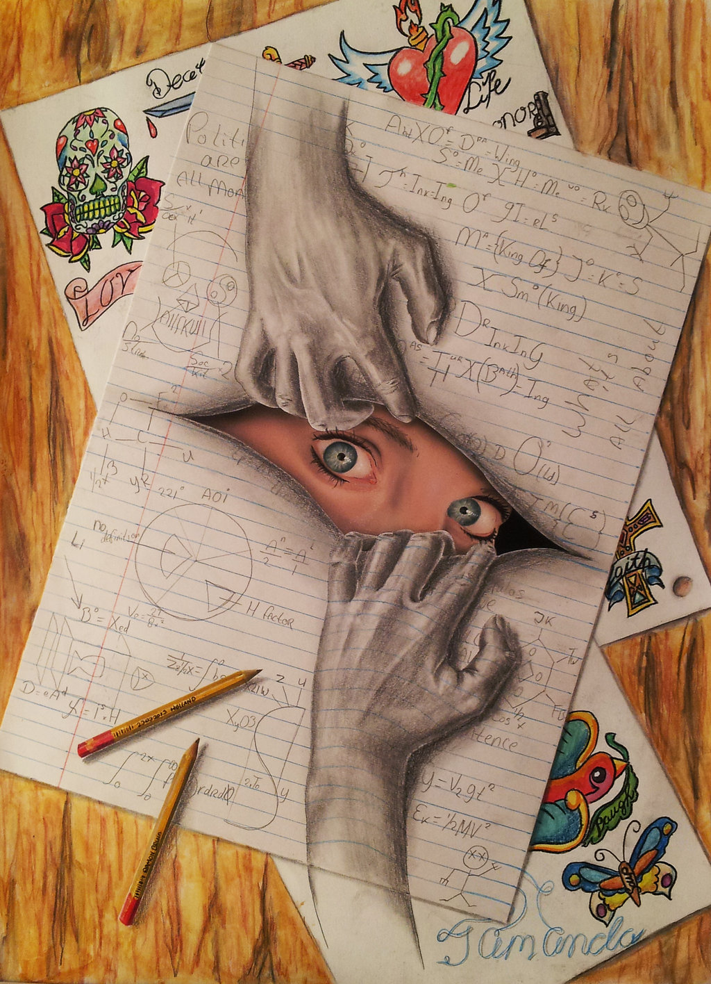 Optical-Illusion-3D-Drawings-on-Paper-by-Ramon-Bruin-aka-JJKAirbrush-23