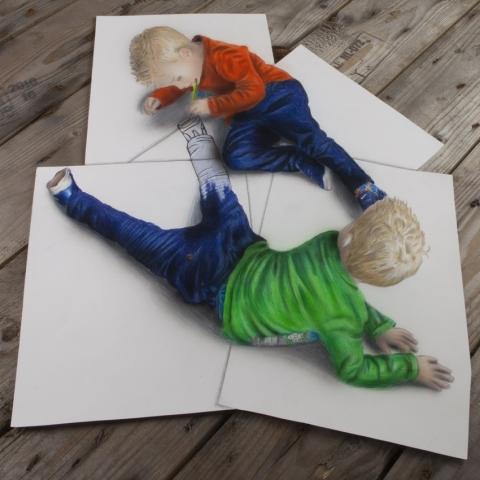 3D-Bleistiftzeichnungen von Ramon Bruin