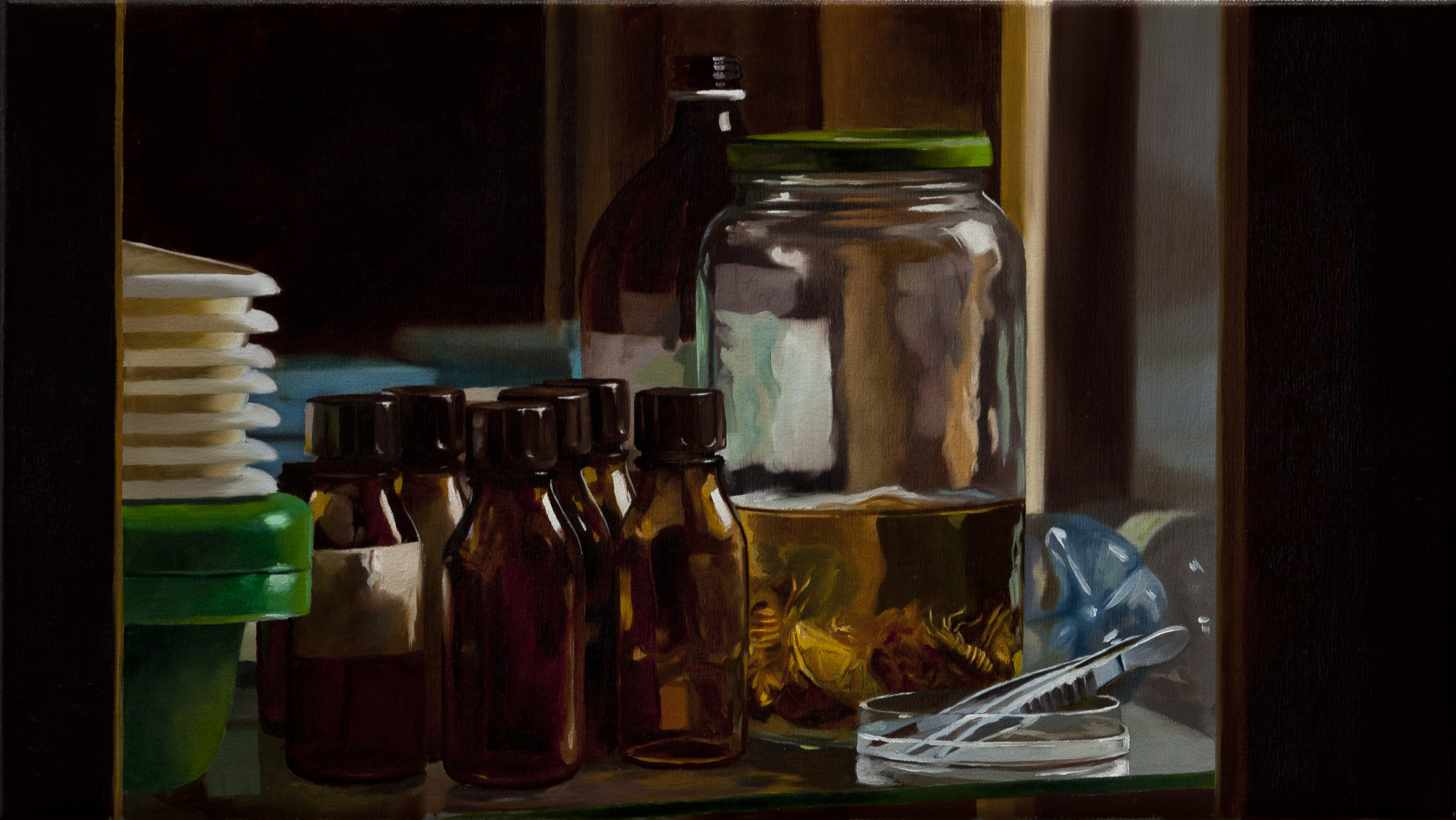 Still-life-with-cockroaches-2015-Markus-Akesson-oil-on-canvas-24x42cm