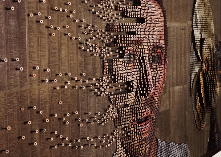 3D-Kunstwerke aus Schrauben von Andrew Myers