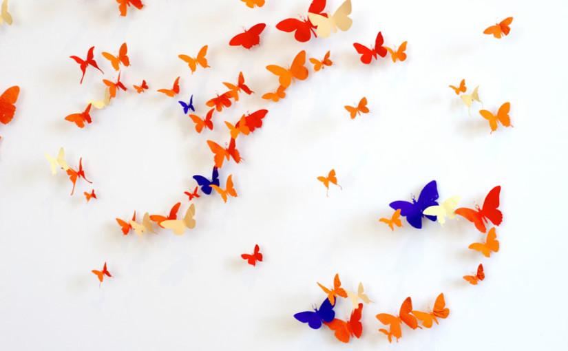 Schmetterlinge aus Bierdosen von Paul Villinski