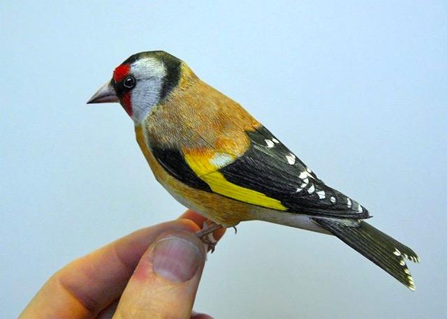 Vogelskulpturen aus Papier von Johan Scherft