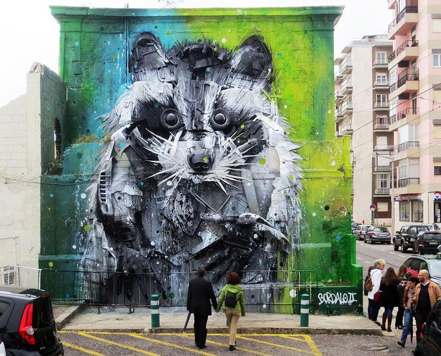 Street Art von Bordalo II