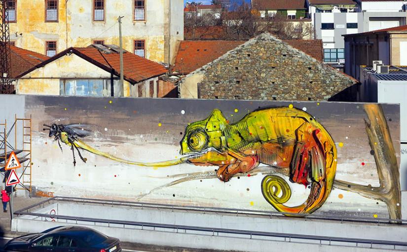 3D Street Art von Bordalo II