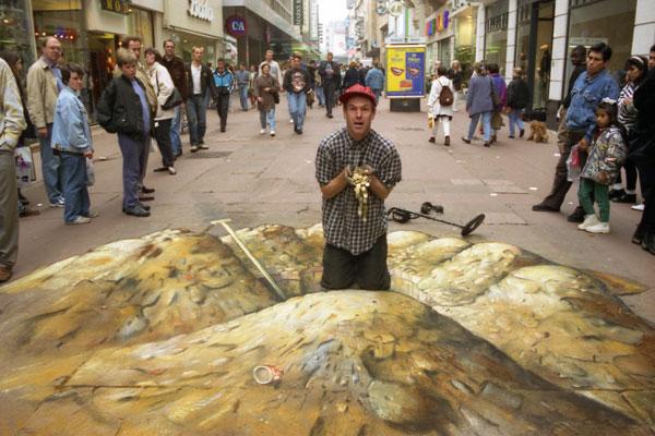 Grandiose Straßenmalerei in 3D von Julian Beever