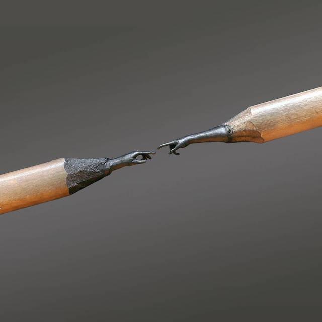 Unglaubliche Skulpturen aus Bleistiftminen von Jasenko Đorđević