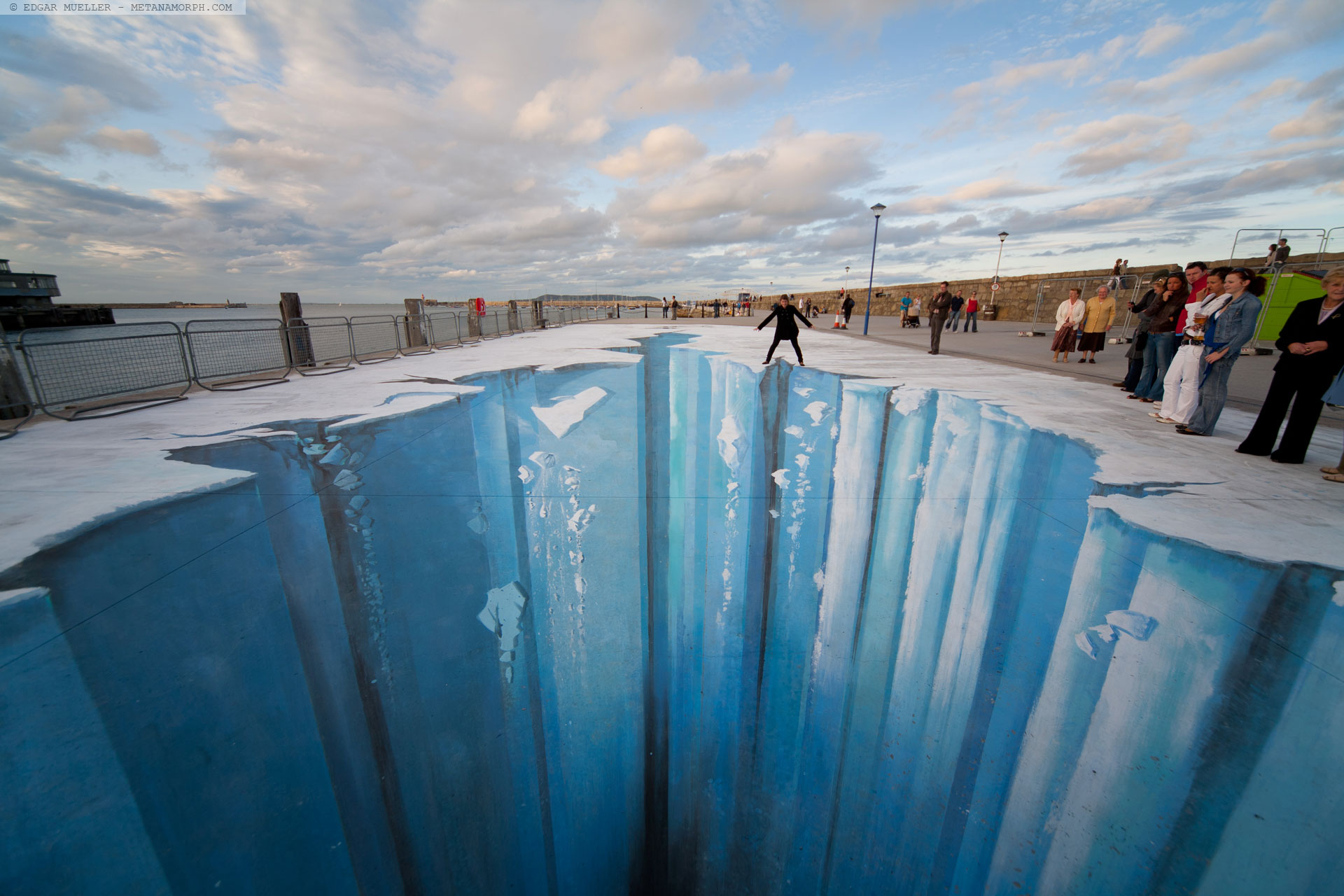 3D-Gemälde des Straßenmalers Edgar Müller