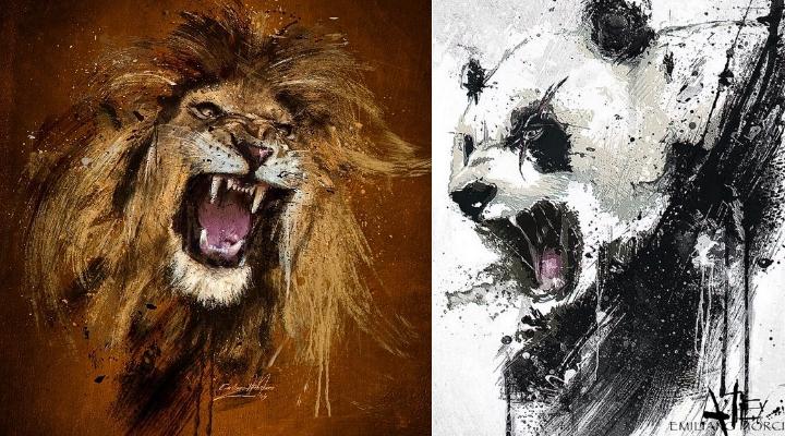 Schreiende Tiere von Emiliano Morciano