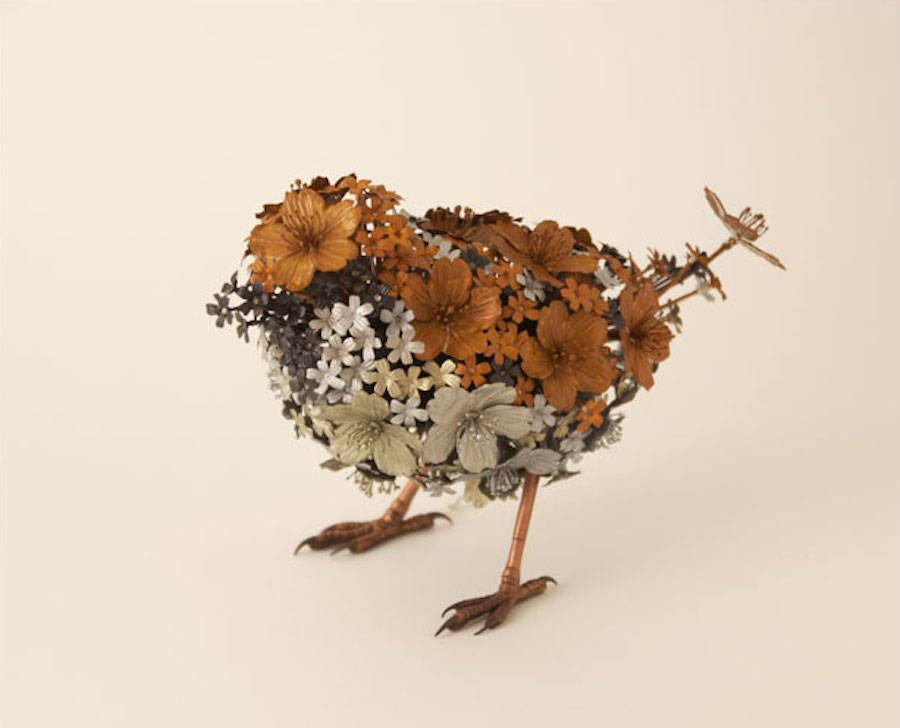 Tierskulpturen aus Metall von Yoshida Taiichiro