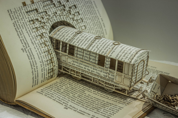 3D Buchskulpturen von Thomas Wightman