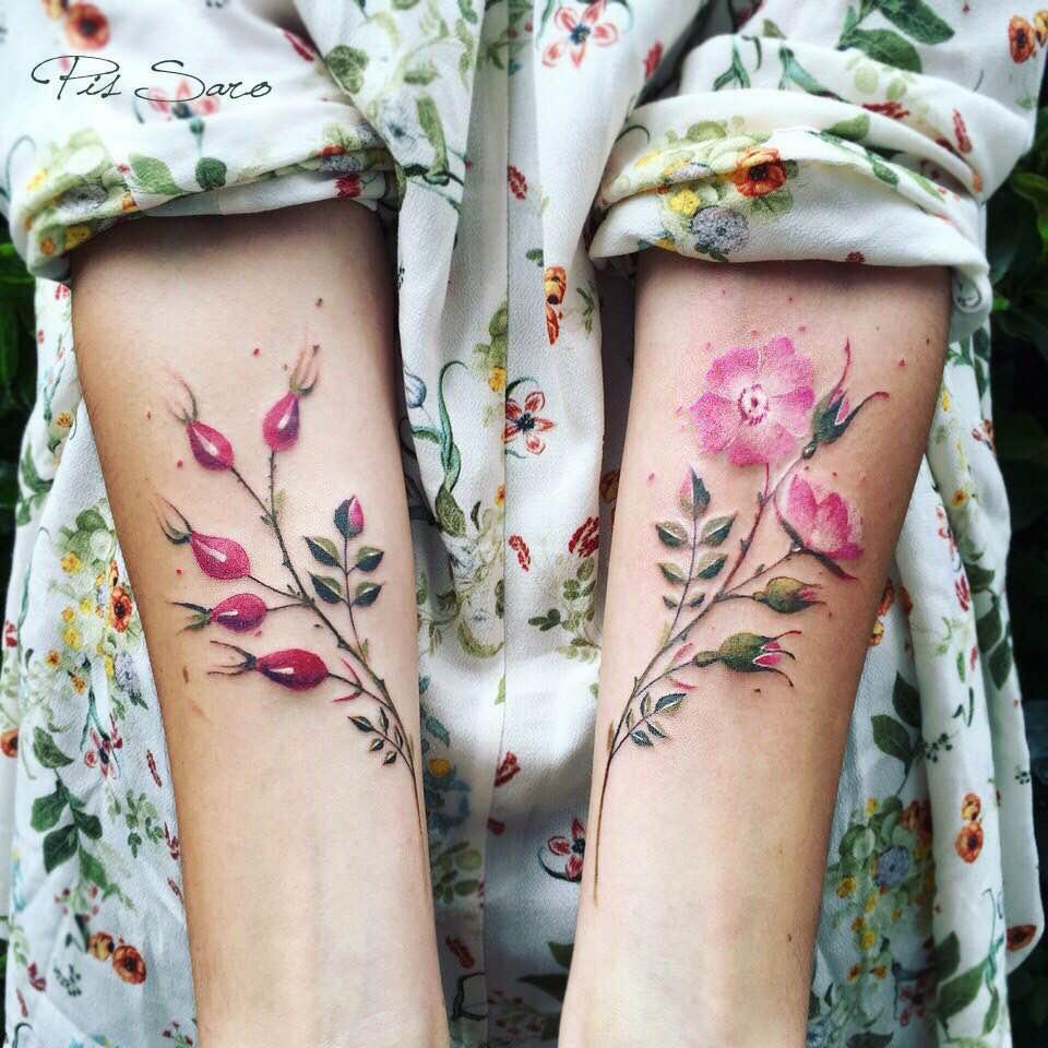 Blumen Tattoos von Pis Saro