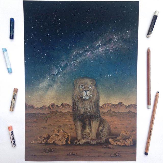 Der Löwe und der Nachthimmel