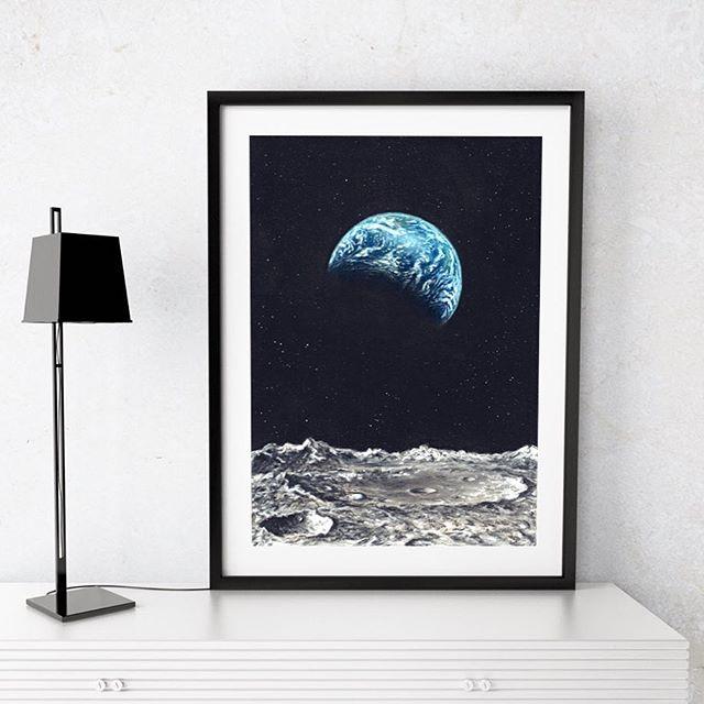 Blick auf die Erde im Weltraum