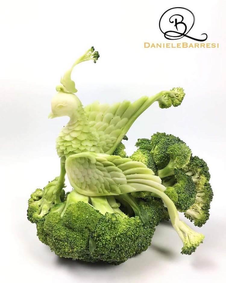Zaubervogel aus Brokkoli
