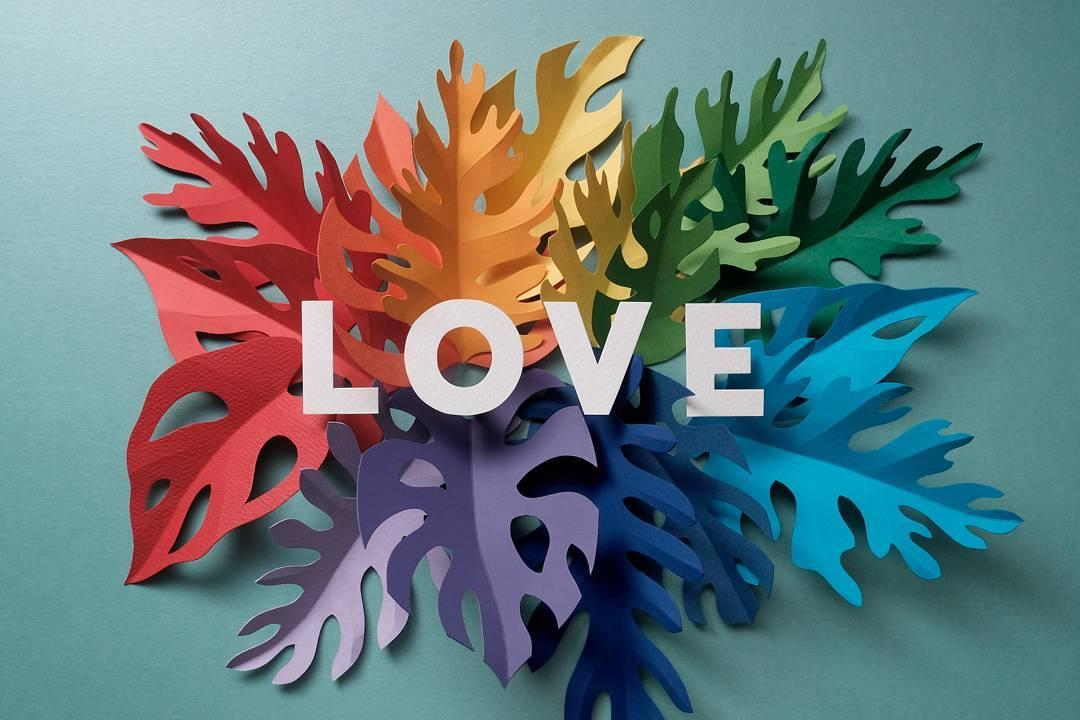 Love - Regenbogenfarben