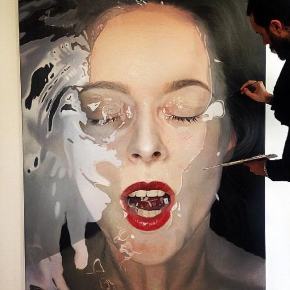 """Hyperrealistische Porträts von Mike Dargas_""""Carpe Diem Baby"""", 2015"""