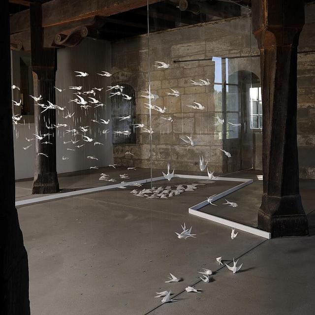 Weiße Vögel Ausstellung