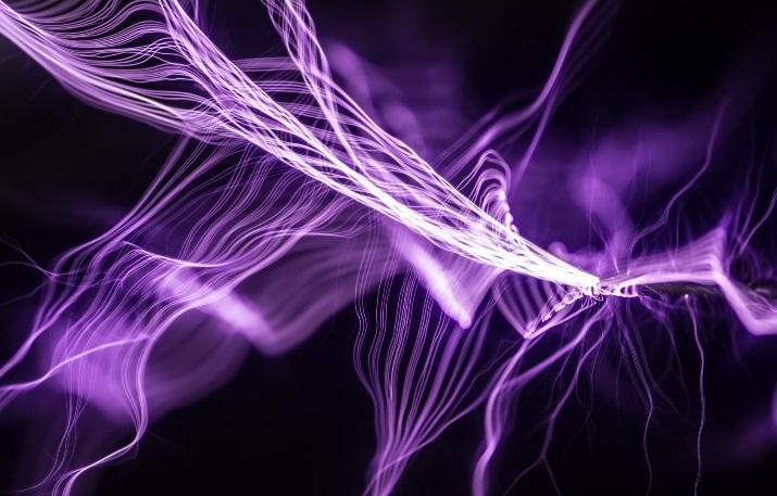 purpurne Lichtstrahlen