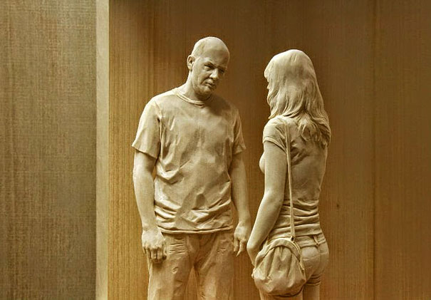 Mann und Frau im Gespräch