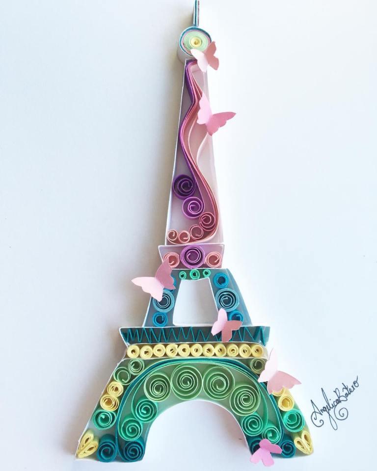 Eiffelturm und Schmetterlinge