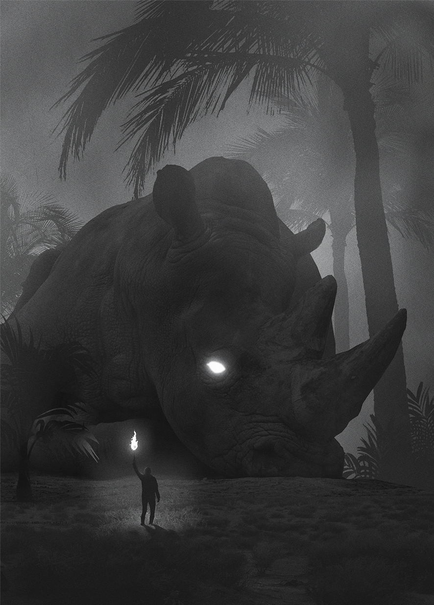 Mysteriöse digitale Bilder von Dawid Planeta_Dinosaurus