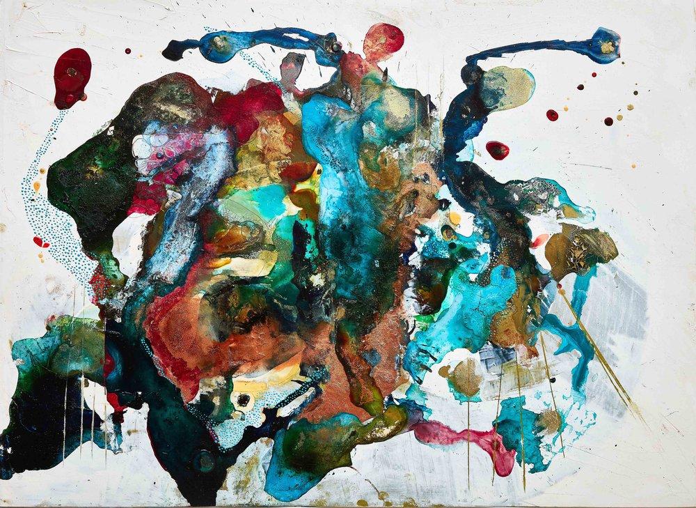 Farben- und Formenspiel in Kunstwerken von Beth Partridge