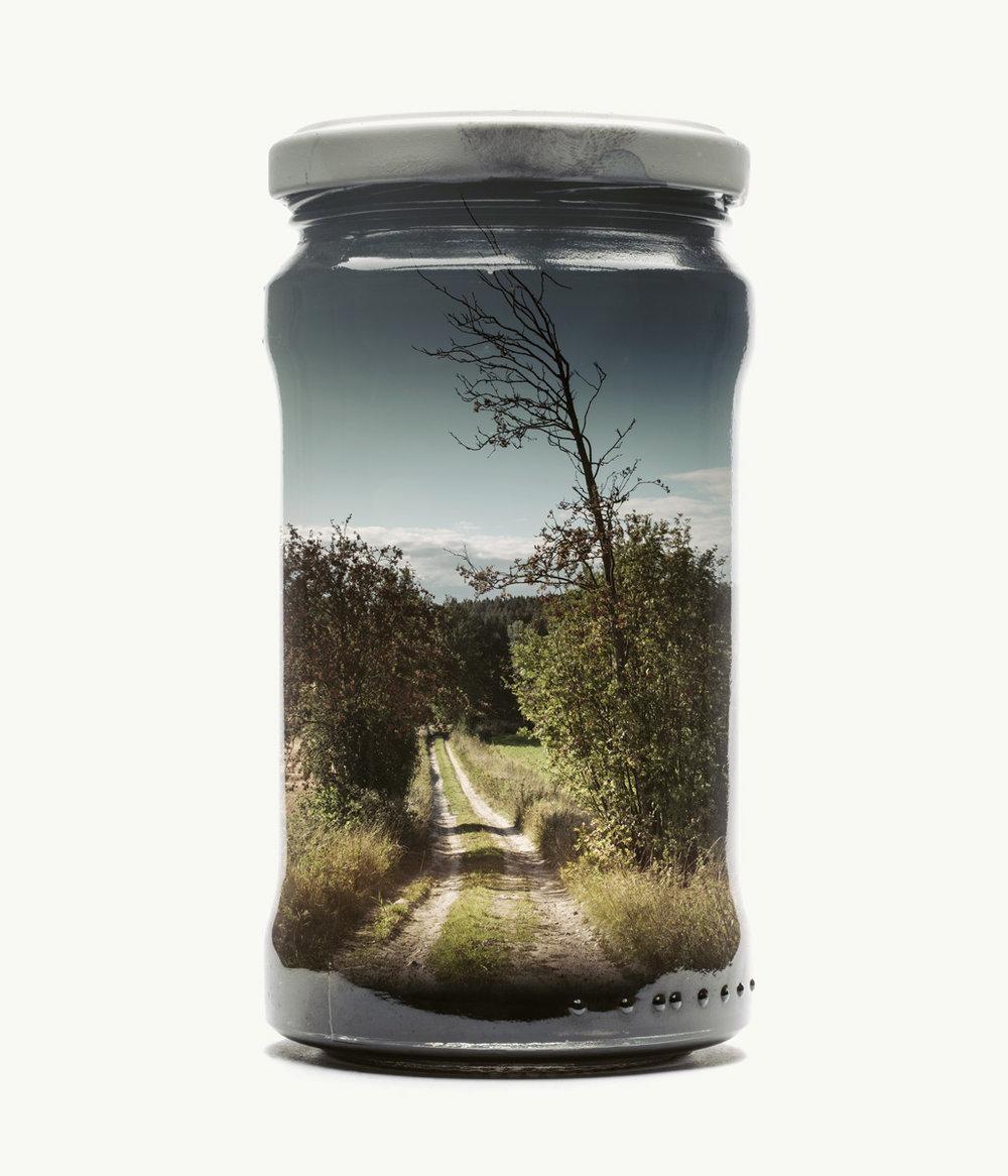 """Kreative Fotoprojekte """"Bilder im Glas"""" von Christoffer Relander. """"Candy Road"""""""