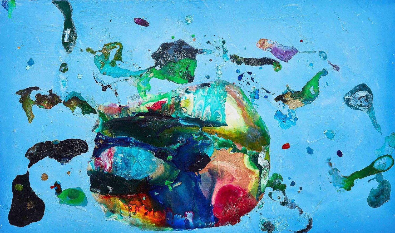 """Farben- und Formenspiel in Kunstwerken von Beth Partridge. """"System"""""""
