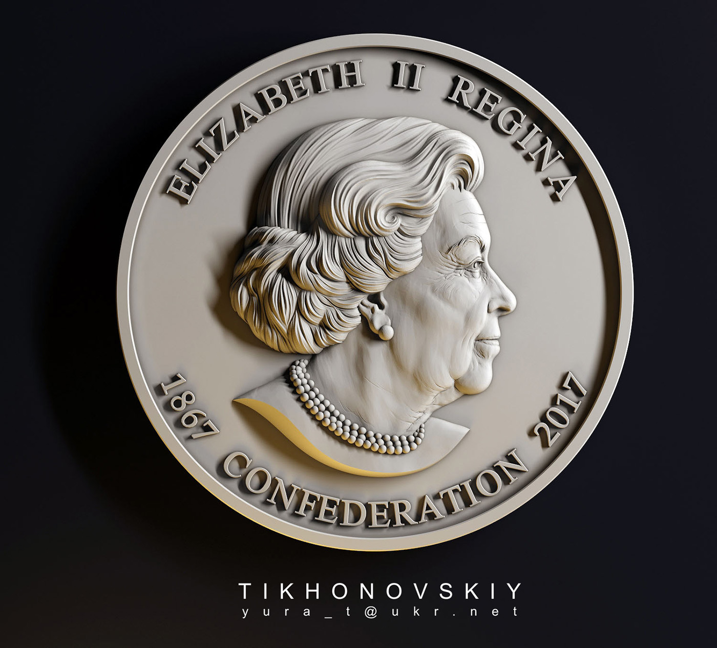 Modell einer Münze