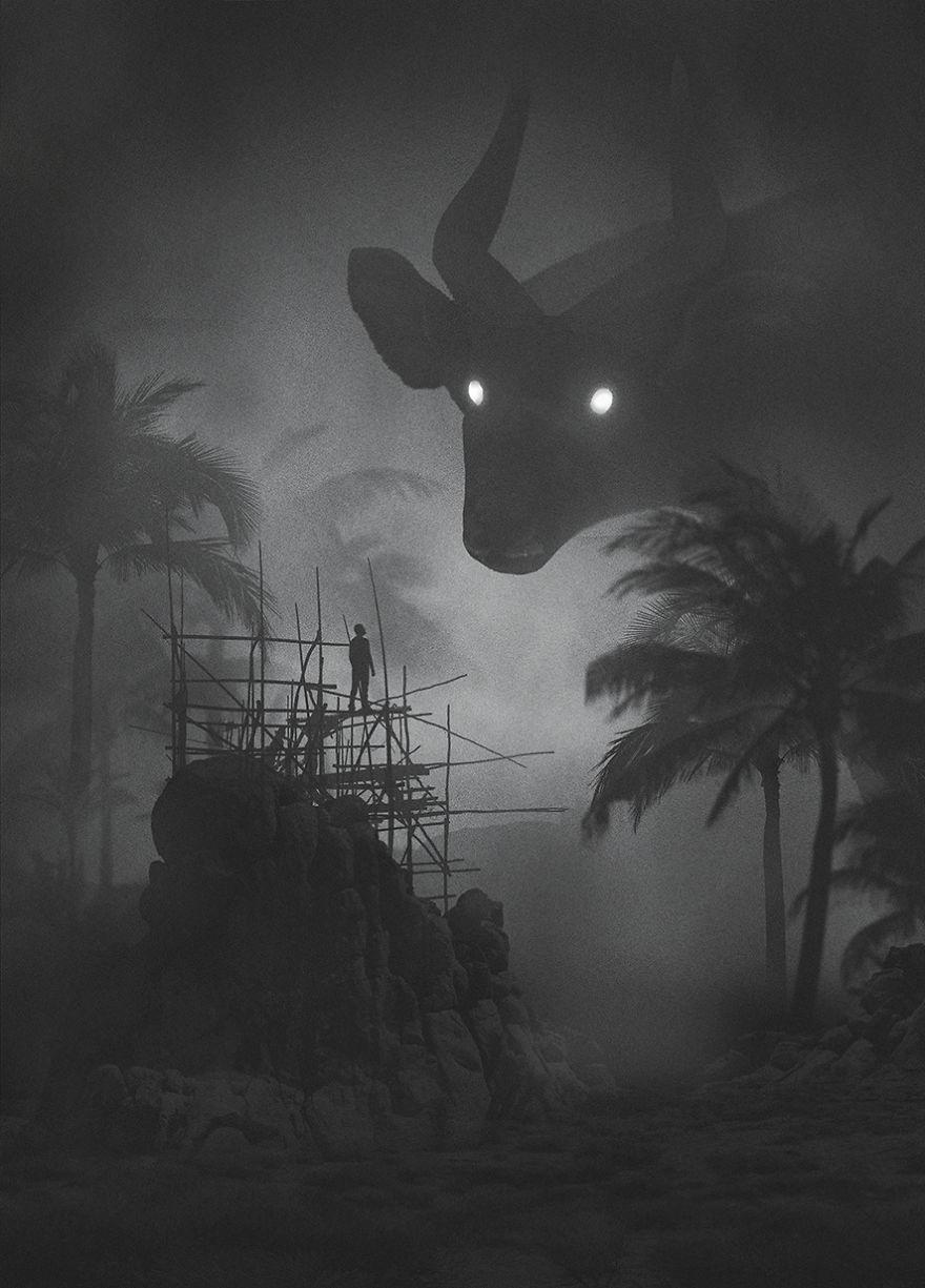 Mysteriöse digitale Bilder von Dawid Planeta_Stier