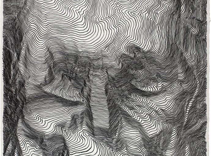 Unglaubliche graphische Linienskulpturen von Carl Krull