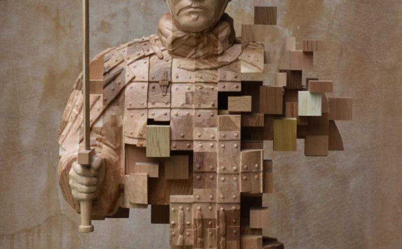 """""""Pixelations"""" – imposante Holzskulpturen von Hsu Tung Han"""