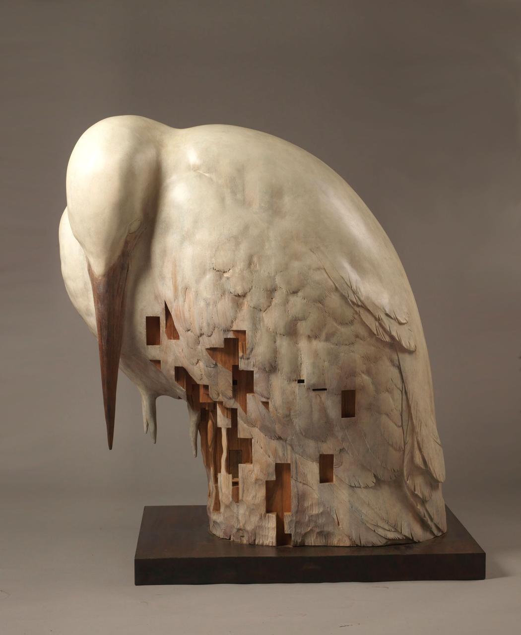 Ein weißer Vogel