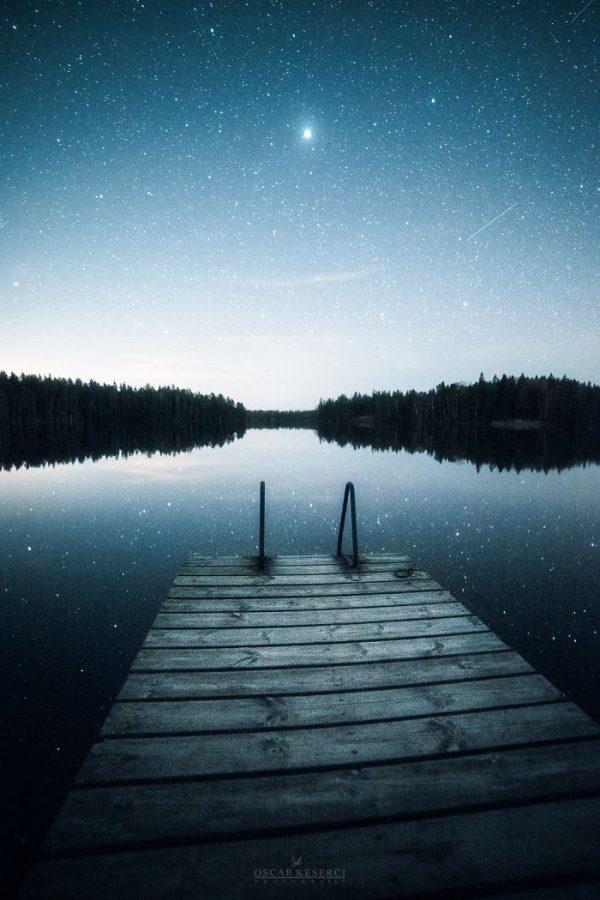 Malerische Landschaftsfotografien von Oscar Keserci_Nacht, See, Brücke