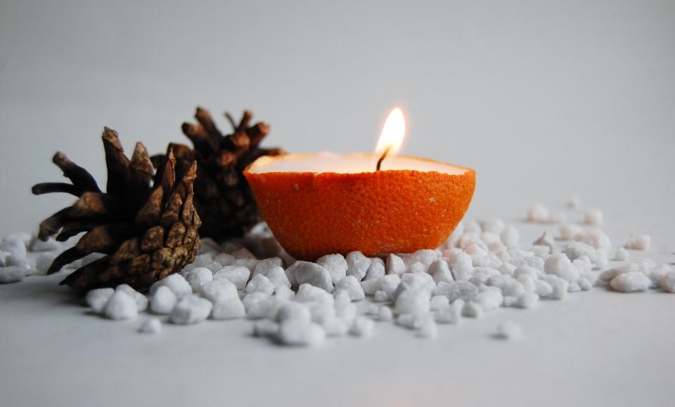 Zitrus - Vanille Orange Kerze