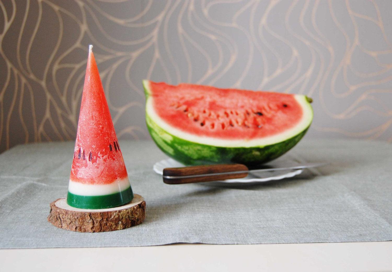 Wassermelone Kerze