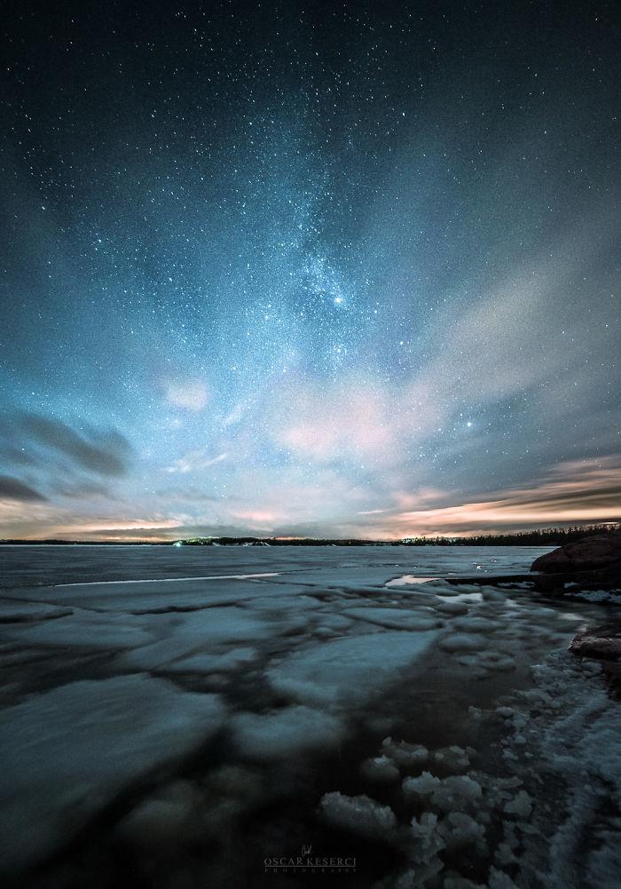 Malerische Landschaftsfotografien von Oscar Keserci_See, Eis