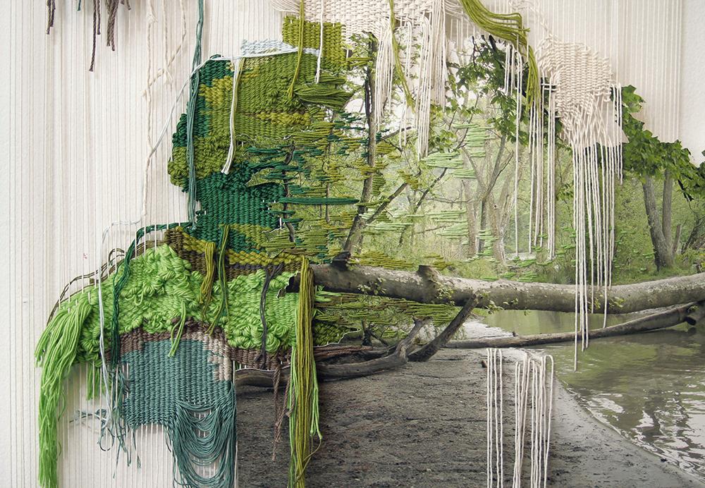 Ana Teresa Barboza und ihre malerische Stickerei_Grüner Wald