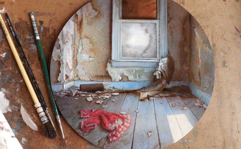 Realistische Miniaturmalerei von Dina Brodsky