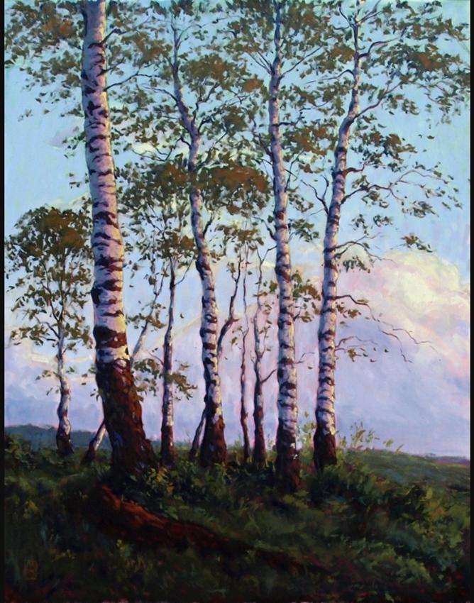 """Wunderbare Ölmalerei von Michael Orwick_""""Yellow Stone Sunset"""""""
